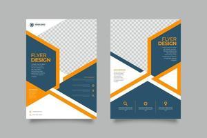 diseño de plantilla de folleto comercial simple flyer vector