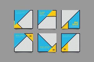 publicaciones modernas minimalistas en redes sociales vector