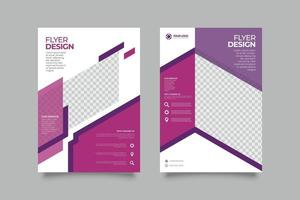 Real Estate flyer template with abstract shapes vector