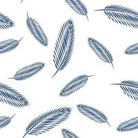 Leaves of palm tree seamless pattern background. vector