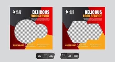 plantilla de banner de publicación de redes sociales de comida vector