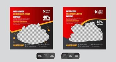 paquete de diseño de plantilla de banner cuadrado vector