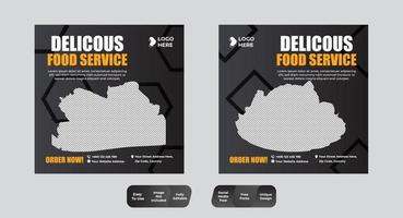 elegante plantilla de publicación de redes sociales culinarias de restaurante de lujo vintage vector