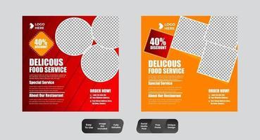 Social Media Food Template vector