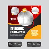 publicación de comida y bebida en redes sociales vector