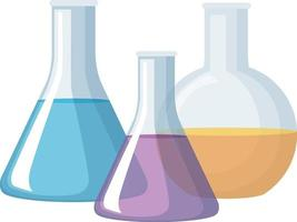 Glassware for chemical experiment isolated vector