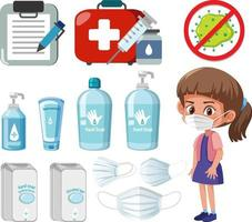 Hand sanitizer products isolated