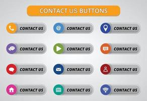 contact us buttons and icon design.
