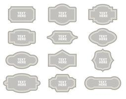 frames and labels collection. vector