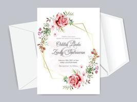 beautiful and elegant floral wedding invitation card templates vector