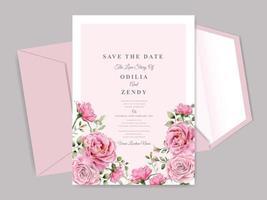 beautiful and elegant floral wedding invitation card templates vector