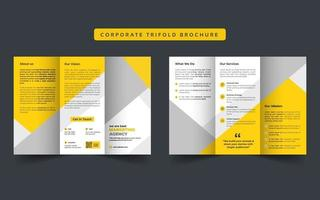 Corporate business trifold brochure vector