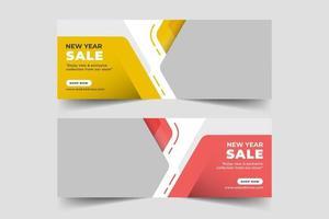 banner web de venta para redes sociales vector