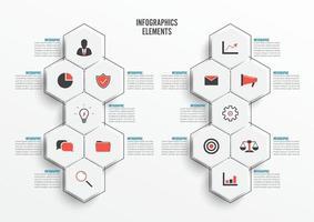 plantilla de infografía vectorial con etiqueta de papel 3d. concepto de negocio con 10 opciones. para contenido, diagrama, diagrama de flujo, pasos, partes, infografías de línea de tiempo, flujo de trabajo, gráfico vector