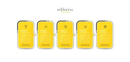 Infographic element with icons and 5 options or steps. vector