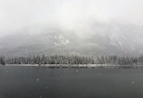 Scenic winter landscape photo