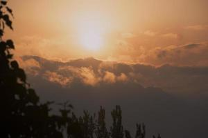 Sunrise in Kashmir, Himalayas photo