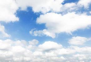 Blue sky and white clouds photo