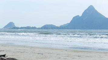 Narrow beach line