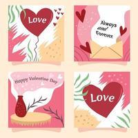tarjeta de cena de San Valentín vector
