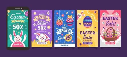 Easter Day Instagram Stories Collection vector