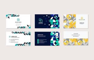plantilla de tarjeta de nombre comercial abstracta geométrica vector