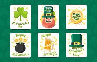 Celebrating St Patrick Day Card vector