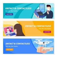 Untact Contactless Technology Banners