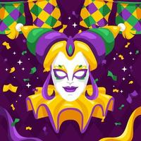 Mardi Gras with Mask Character vector