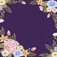 Beautiful Floral Frame Background vector