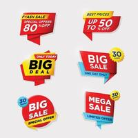 Business Label for Sale and Promotion vector
