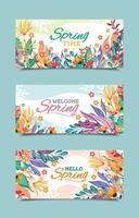 Colorful Spring Banner Templates vector