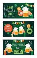 Saint Patrick's Sale Marketing Event vector