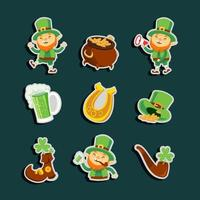 Little Green Leprechaun Sticker vector