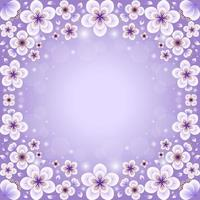 Beautiful Gradient Light Purple Cherry Blossom vector