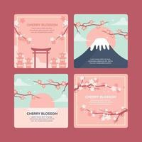 Cherry Blossom Growing on Various Environment vector