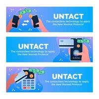 Banner of UNTACT or Technology Related Keywords