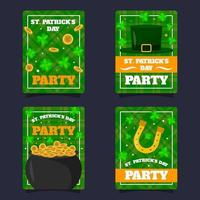 St. Patrick's Day Card Collection vector