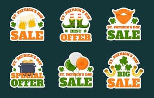 St. Patrick's Day Marketing Sticker Collection vector