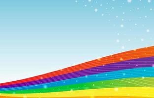 Colorful Rainbow and Stars Background vector