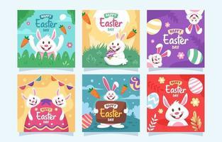 Easter Bunny Social Media Post vector