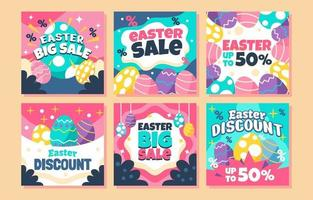 The Amazing Easter Colorful Sale vector