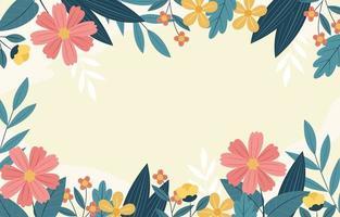fondo de flores de primavera vector