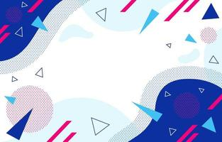Abstract Flat with Geometric Background vector