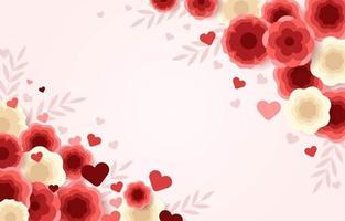 Valentine's Day Flower Background vector