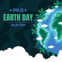Earth Day in Dark Shades vector