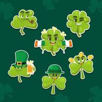Wonderful Happy Shamrock Sticker Pack vector