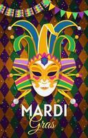 Mardi Gras Party Mask vector