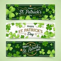 Banner St Patrick's Day with Green Color vector