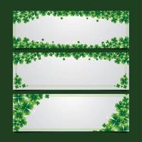 Green Shamrock Leaf Banner Concept vector